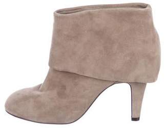 Ash Suede Round-Toe Ankle Boots