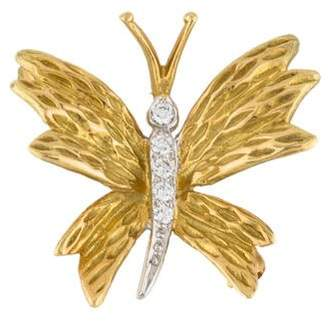 Tiffany & Co. 18K Diamond Butterfly Pin