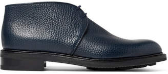 John Lobb Grove Full-Grain Leather Chukka Boots - Men - Navy