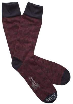 Corgi Cotton Cashmere Plaid Socks