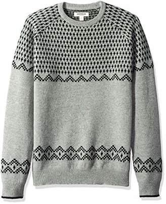 Goodthreads Men's Lambswool Fairisle Crewneck Sweater