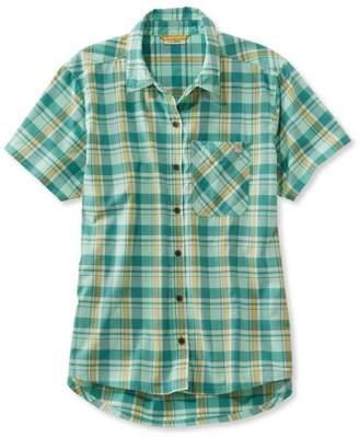 L.L. Bean L.L.Bean Beach Cruiser Summer Shirt, Short-Sleeve Plaid