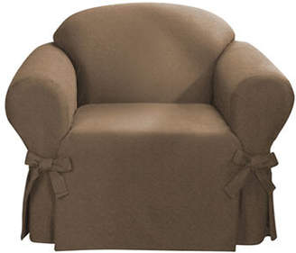Sure Fit Bruce Suede One-Piece Chair Slipcover