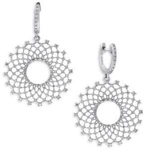 Effy 1.14 TCW Diamond, 14K White Gold Earrings
