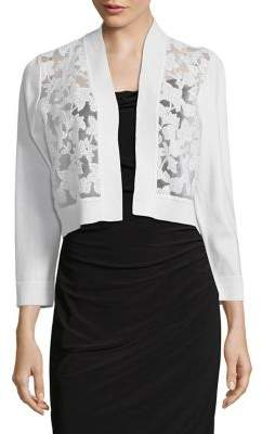 Calvin Klein Embroidered Cropped Cardigan