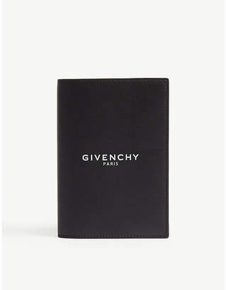 Givenchy Logo-printed leather passport holder