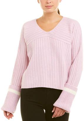 J.o.a. Rib-Knit Wool-Blend Sweater