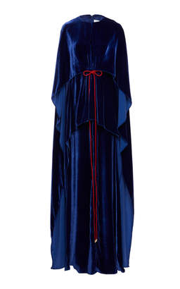 Prabal Gurung Karly Cascade Cape Gown