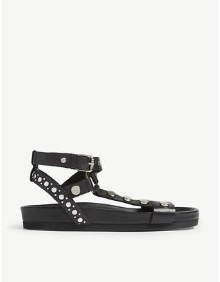 Claudie Pierlot Studded strappy leather sandals