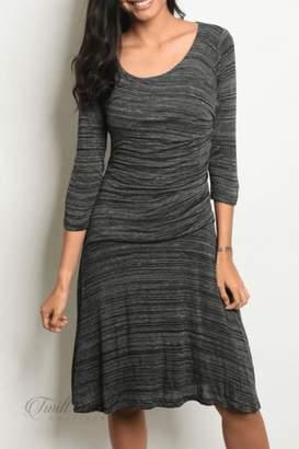 Renee C Black Gray Dress
