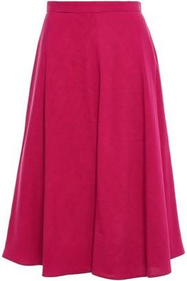 DELPOZO Slub Woven Midi Skirt