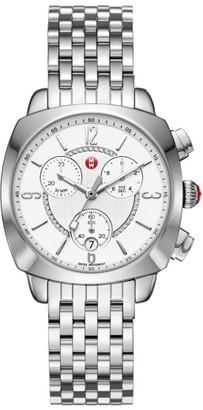 Women's Michele Ascalon Diamond Dial Chronograph Watch Head & Bracelet, 38Mm $1,395 thestylecure.com