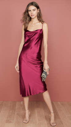 Fleur Du Mal Cowl Neck Slip Dress With Slit