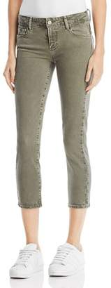 Paige Skyline Skinny Crop Jeans in Faded Laurel Green