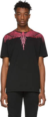 Marcelo Burlon County of Milan Black and Red Wings T-Shirt