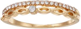 Lauren Conrad Simulated Crystal Double Band Ring