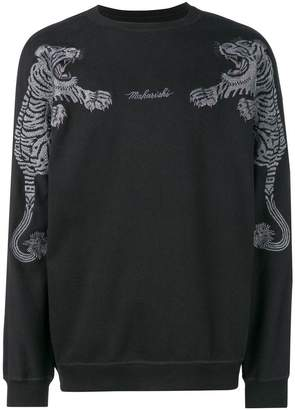 MHI logo tiger embroidered sweatshirt
