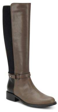 Udelle Leather Paneled Tall Boots $495 thestylecure.com