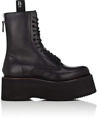R 13 Women's Double Stacked Leather Combat Boots