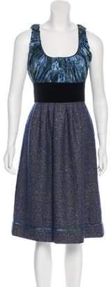 Peter Som Printed Sleeveless Dress