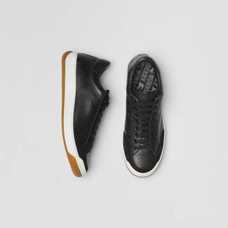Burberry Logo Print Leather Sneakers