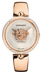 Versace 39mm Palazzo Empire Bangle Watch, Rose Gold