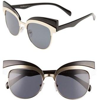 A.J. Morgan 'Reign' 53mm Oversize Cat Eye Sunglasses $24 thestylecure.com
