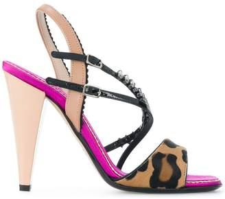No.21 animal print heeled sandals