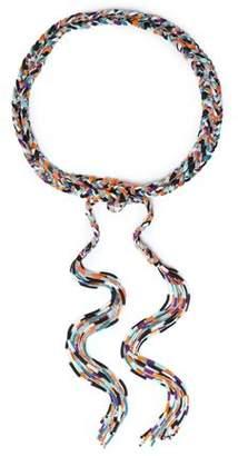 Missoni Braided Metallic Crochet-knit Belt