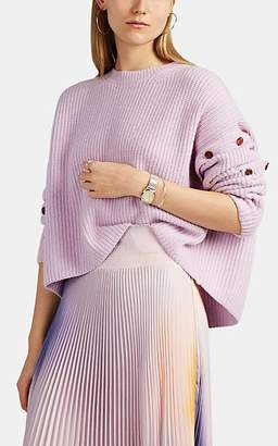A.L.C. Women's Button-Detailed Cashmere-Cotton Sweater - Light, Pastel purple