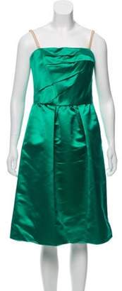 Dolce & Gabbana Strapless Satin Dress green Strapless Satin Dress