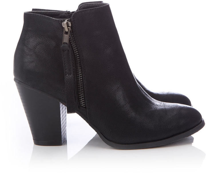 Black Zip Ankle Boot