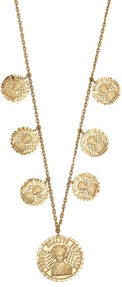 Anissa Kermiche - Louise D'or 18kt Gold Coin Necklace - Womens - Gold
