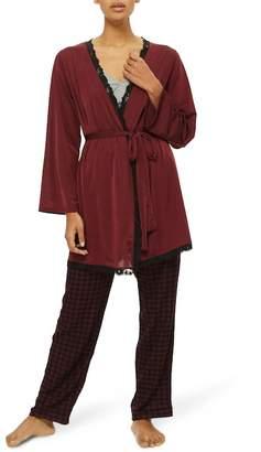 Topshop Satin Jersey Robe