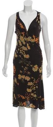 Max Mara Sleeveless Printed Midi Dress