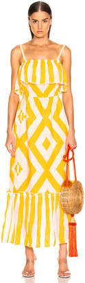 Lemlem Biruhi Long Tier Dress in Yellow | FWRD