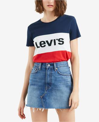 Levi's Cotton Colorblocked Graphic T-Shirt