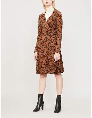 Diane von Furstenberg Cybil leopard-print silk wrap dress