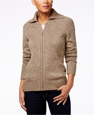 Karen Scott Marled Zip-Front Cardigan, Only at Macy's $49.50 thestylecure.com
