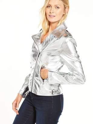 Vila Silver Biker Jacket