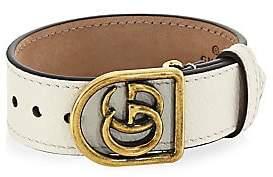 Gucci Men's Marmont Double G Leather Bracelet
