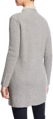 Magaschoni Mag By Shaker-Stitch Cashmere Cardigan