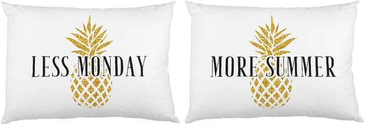 One Bella Casa Less Monday More Summer Pillowcases (Set of 2)