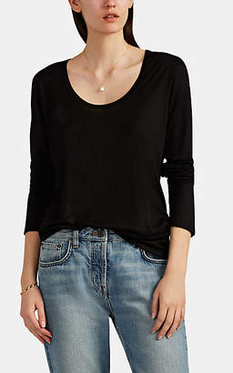 The Row Women's Baxerton Jersey Long-Sleeve T-Shirt - Black