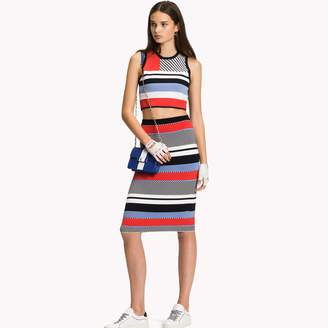 Tommy Hilfiger Multi Stripe Pencil Skirt