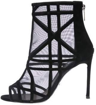 Christian Dior Mesh Peep-Toe Boots