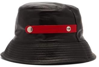 Alexander McQueen Leather Bucket Hat - Mens - Black