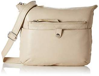 Tresori Women's Real Leather Cross over Bag with Front Zip