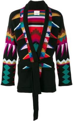 Laneus geometric pattern cardigan