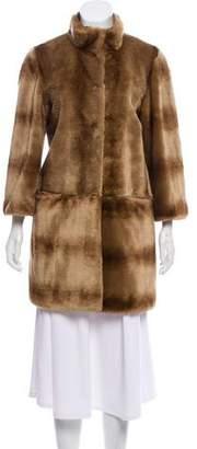 Tahari Faux Fur Short Coat